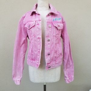 F21 LA GEAR pink jacket